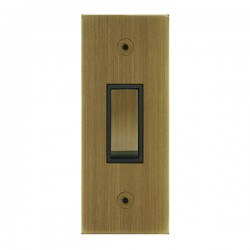 Focus SB True Edge TEAAB16.1B 1 gang 20 amp 2 way architrave switch in Antique Brass with black inserts