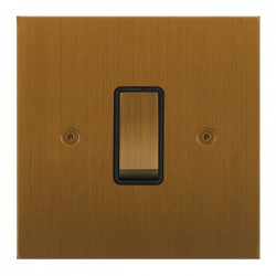 Focus SB True Edge TEABA11.1B 1 gang 20 amp 2 way rocker switch in Bronze Antique with black inserts