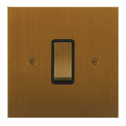 Focus SB True Edge TEABA11.1/3B 1 gang 20 amp Intermediate rocker switch in Bronze Antique