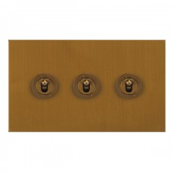 Focus SB True Edge TEABA14.3 3 gang 20 amp 2 way toggle switch in Bronze Antique