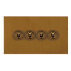 Focus SB True Edge TEABA14.4 4 gang 20 amp 2 way toggle switch in Bronze Antique
