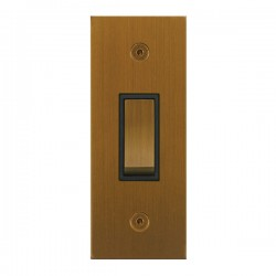 Focus SB True Edge TEABA16.1B 1 gang 20 amp 2 way architrave switch in Bronze Antique with black inserts