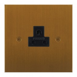 Focus SB True Edge TEABA19.1B 1 gang 2 amp unswitched socket in Bronze Antique with black inserts