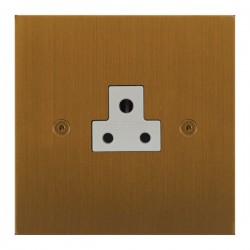 Focus SB True Edge TEABA19.1W 1 gang 2 amp unswitched socket in Bronze Antique with white inserts