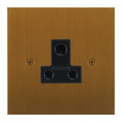 Focus SB True Edge TEABA20.1B 1 gang 5 amp unswitched socket in Bronze Antique with black inserts