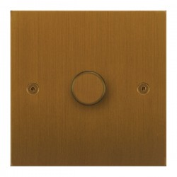 Focus SB True Edge TEABA21.1 1 gang 2 way 250W (mains and low voltage) dimmer in Bronze Antique