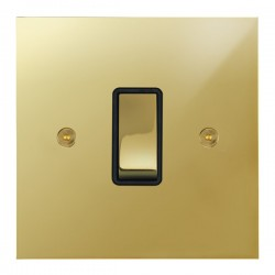 Focus SB True Edge TEAPB11.1/3B 1 gang 20 amp Intermediate rocker switch in Polished Brass