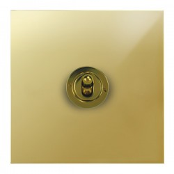 Focus SB True Edge TEAPB14.1/3 1 gang 20 amp Intermediate toggle switch in Polished Brass