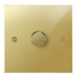 Focus SB True Edge TEAPB21.1 1 gang 2 way 250W (mains and low voltage) dimmer in Polished Brass
