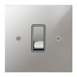 Focus SB True Edge TEAPC11.1/3W 1 gang 20 amp Intermediate rocker switch in Polished Chrome with White Inserts