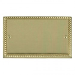 Hamilton Cheriton Georgian Polished Brass Double Blank Plate