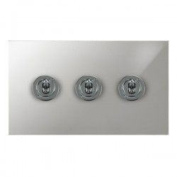 Focus SB True Edge TEAPC14.3 3 gang 20 amp 2 way toggle switch in Polished Chrome