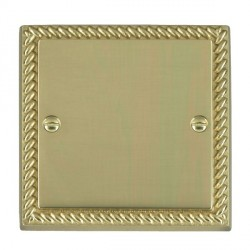 Hamilton Cheriton Georgian Polished Brass Single Blank Plate