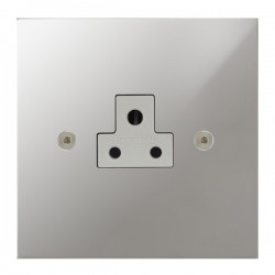 Focus SB True Edge TEAPC19.1W 1 gang 2 amp unswitched socket in Polished Chrome with white inserts
