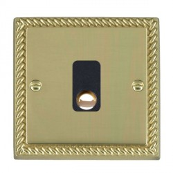 Hamilton Cheriton Georgian Polished Brass 20A Cable Outlet with Black Insert