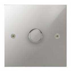 Focus SB True Edge TEAPC22.1 1 gang 2 way 400W (mains and low voltage) dimmer in Polished Chrome