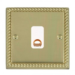Hamilton Cheriton Georgian Polished Brass 20A Cable Outlet with White Insert