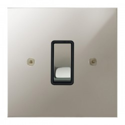 Focus SB True Edge TEAPN11.1B 1 gang 20 amp 2 way rocker switch in Polished Nickel with black inserts