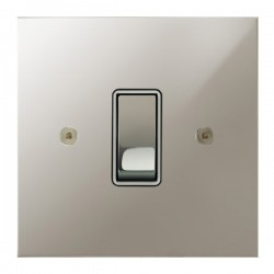 Focus SB True Edge TEAPN11.1W 1 gang 20 amp 2 way rocker switch in Polished Nickel with white inserts