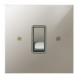 Focus SB True Edge TEAPN11.1/3W 1 gang 20 amp Intermediate rocker switch in Polished Nickel with White Inserts