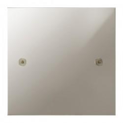Focus SB True Edge TEAPN37.1 single blank plate in Polished Nickel