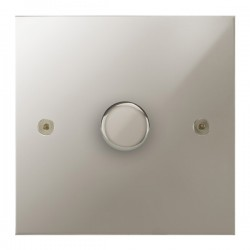 Focus SB True Edge TEAPN43.1/SML 1 gang 700W low voltage, 1000W mains voltage dimmer in Polished Nickel