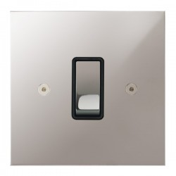 Focus SB True Edge TEAPS11.1B 1 gang 20 amp 2 way rocker switch in Polished Stainless with black inserts
