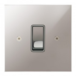 Focus SB True Edge TEAPS11.1W 1 gang 20 amp 2 way rocker switch in Polished Stainless with white inserts