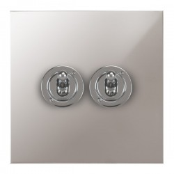 Focus SB True Edge TEAPS14.2 2 gang 20 amp 2 way toggle switch in Polished Stainless