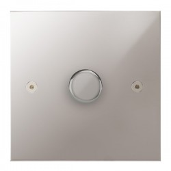 Focus SB True Edge TEAPS21.1 1 gang 2 way 250W (mains and low voltage) dimmer in Polished Stainless