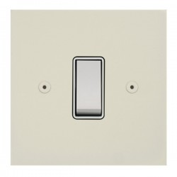 Focus SB True Edge TEAPW10.1W 1 gang 20 amp 2 way rocker switch in Primed White with white inserts