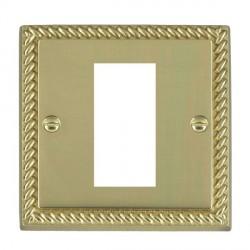 Hamilton Cheriton EuroFix Plates Polished Brass Single Plate c/w 1 EuroFix Apertures + Grid