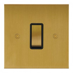 Focus SB True Edge TEASB11.1/3B 1 gang 20 amp Intermediate rocker switch in Satin Brass