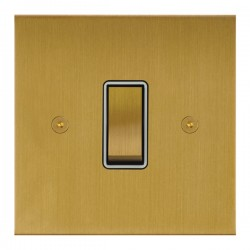 Focus SB True Edge TEASB11.1/3W 1 gang 20 amp Intermediate rocker switch in Satin Brass with White Insert...
