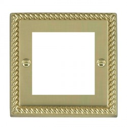 Hamilton Cheriton EuroFix Plates Polished Brass Single Plate c/w 2 EuroFix Apertures + Grid
