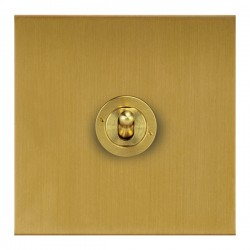 Focus SB True Edge TEASB14.1/3 1 gang 20 amp Intermediate toggle switch in Satin Brass
