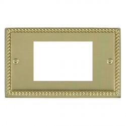 Hamilton Cheriton EuroFix Plates Polished Brass Double Plate c/w 3 EuroFix Apertures + Grid