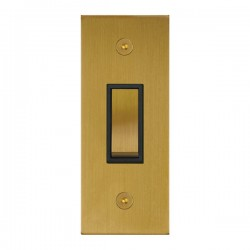 Focus SB True Edge TEASB16.1B 1 gang 20 amp 2 way architrave switch in Satin Brass with black inserts