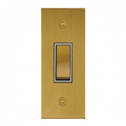 Focus SB True Edge TEASB16.1W 1 gang 20 amp 2 way architrave switch in Satin Brass with white inserts