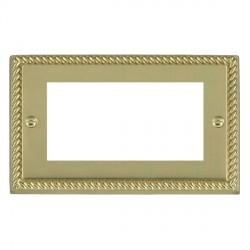 Hamilton Cheriton EuroFix Plates Polished Brass Double Plate c/w 4 EuroFix Apertures + Grid