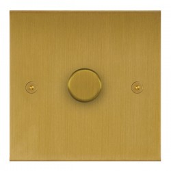 Focus SB True Edge TEASB21.1 1 gang 2 way 250W (mains and low voltage) dimmer in Satin Brass