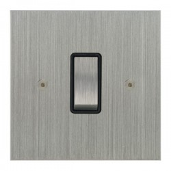 Focus SB True Edge TEASC11.1B 1 gang 20 amp 2 way rocker switch in Satin Chrome with black inserts