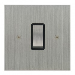 Focus SB True Edge TEASC11.1/3B 1 gang 20 amp Intermediate rocker switch in Satin Chrome