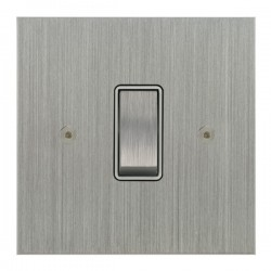 Focus SB True Edge TEASC11.1/3W 1 gang 20 amp Intermediate rocker switch in Satin Chrome with White Inserts