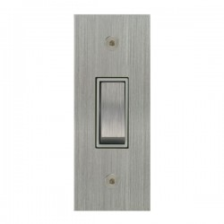 Focus SB True Edge TEASC16.1W 1 gang 20 amp 2 way architrave switch in Satin Chrome with white inserts
