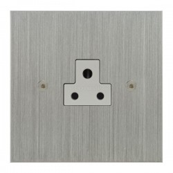 Focus SB True Edge TEASC19.1W 1 gang 2 amp unswitched socket in Satin Chrome with white inserts