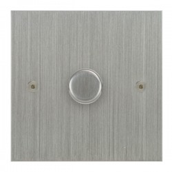 Focus SB True Edge TEASC21.1 1 gang 2 way 250W (mains and low voltage) dimmer in Satin Chrome