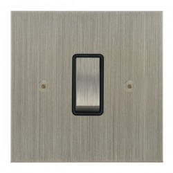 Focus SB True Edge TEASN11.1/3B 1 gang 20 amp Intermediate rocker switch in Satin Nickel