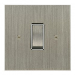 Focus SB True Edge TEASN11.1W 1 gang 20 amp 2 way rocker switch in Satin Nickel with white inserts