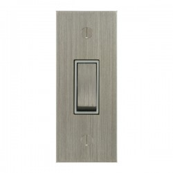 Focus SB True Edge TEASN16.1W 1 gang 20 amp 2 way architrave switch in Satin Nickel with white inserts
